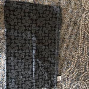 NWT coach navy blue wrap scarf